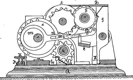 Second machine of Otto Büttner (patent drawing)