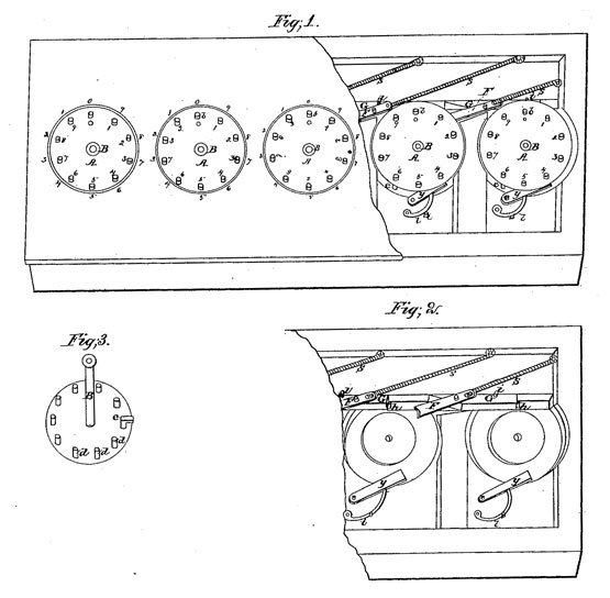 calculating machine of John T. Campbell