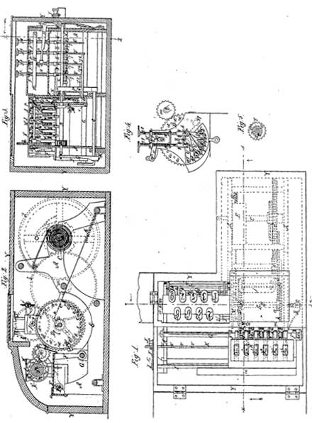 The patent drawing of the first machine of Orlando Lane Castle