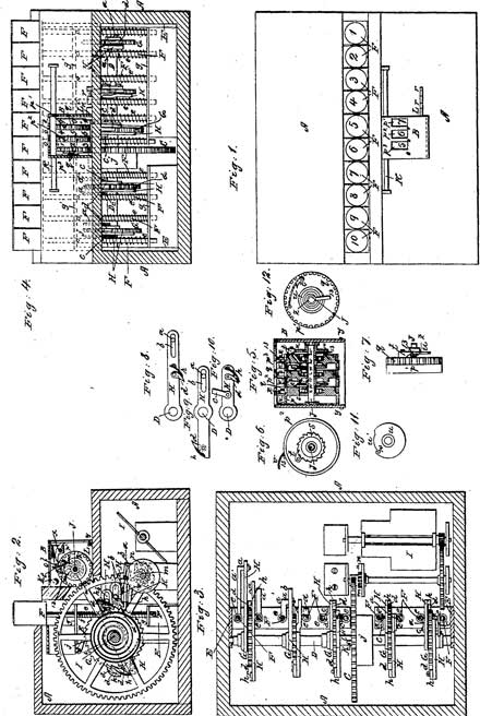 The patent drawing of the second machine of Orlando Lane Castle