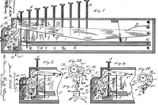 The patent of Comptometer