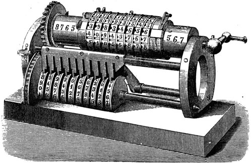 The smaller machine of Grant, exhibited 1876
