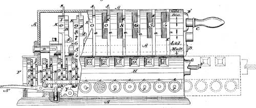A drawing from USA patent (1878)