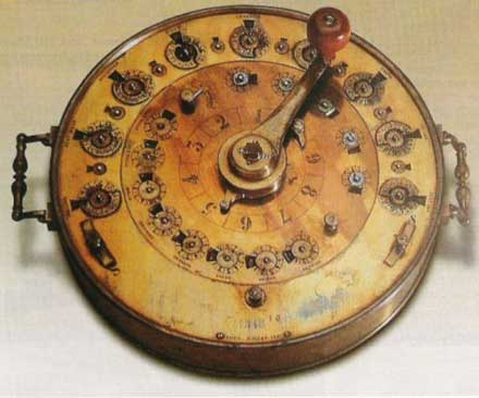 One of the circular multiplication machines of Roth