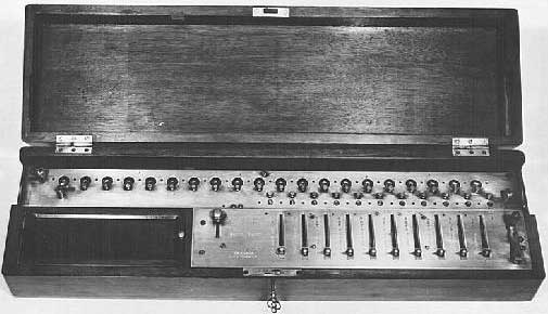 One of the first models of Saxonia calculating machine