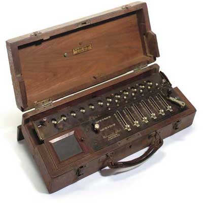 A portable model of Saxonia calculating machine