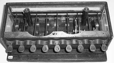 The inside of calculating machine of Schwilgué in Zurich