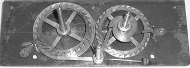 Under the top plate of calculating machine of Schwilgué in Zurich