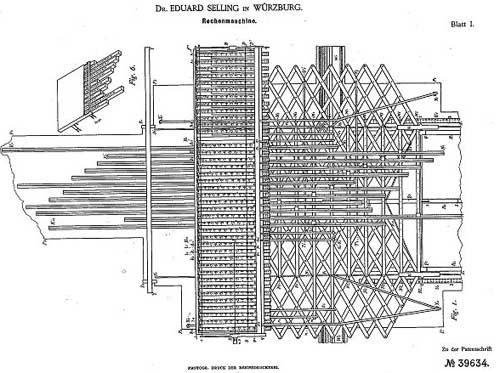 The patent drawing of Selling