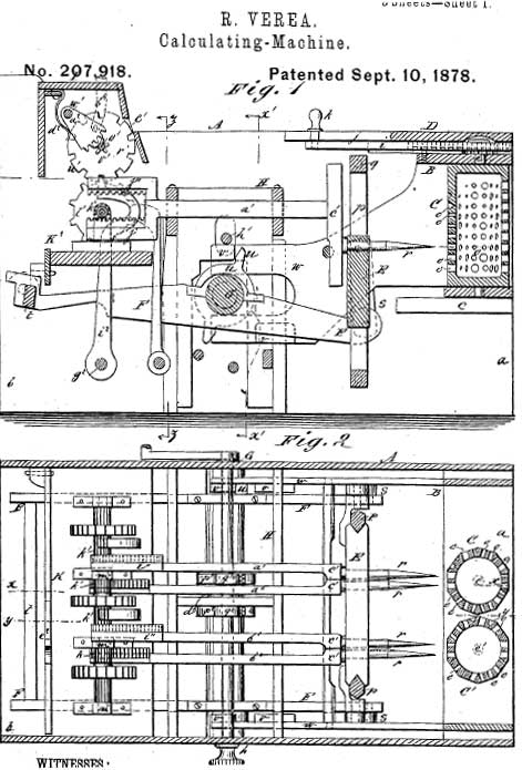 One of the patent drawings of the Verea