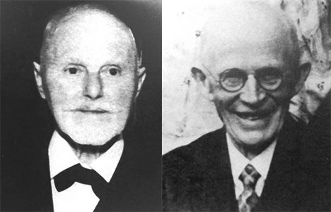 Eduard Zeibig (left) and Eugin Straßberger (right)