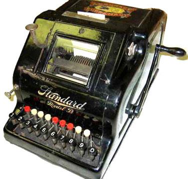 Standard Adding Machine, Model B