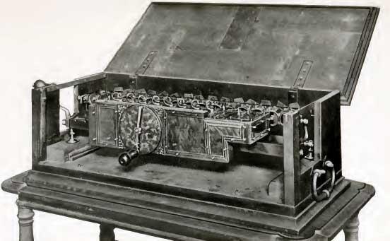 A replica of the Stepped Reckoner of Lebniz
