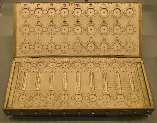 The calculating machine of René Grillet de Roven