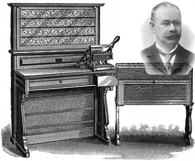 Herman Hollerith and his first tabulator from 1890
