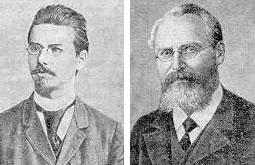 Friedrich Reinitzer and Otto Lehman