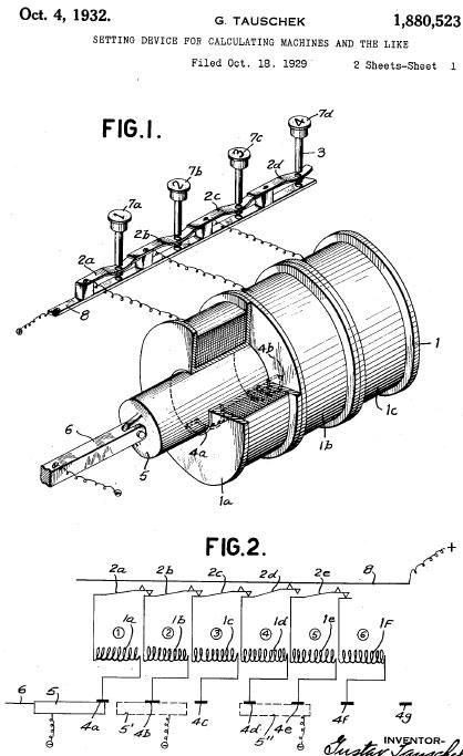 Tauschek patent drawing