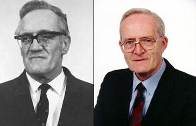 Frederic Williams (left) and Tom Kilburn