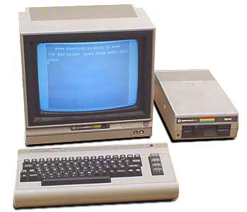 C64 with monitor and floppy