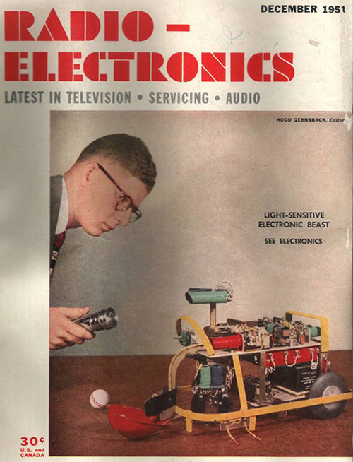 Squee robot (an electronic robot squirrel) of Edmund Berkeley