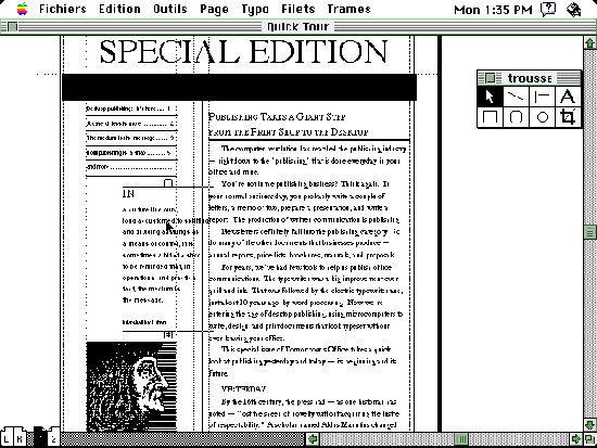 PageMaker 1.0 screen