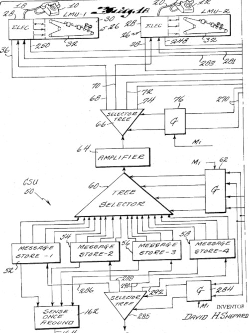 The patent drawing of Shepard Conversation Machine