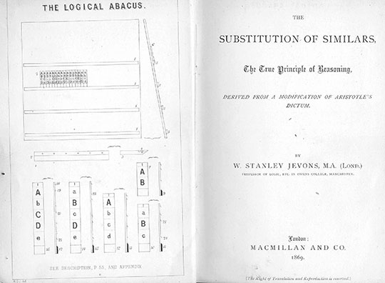 The title page of Substitution of Similars of Jevons