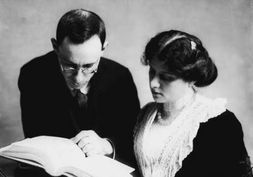 Emanuel Goldberg anf his wife Sophie in 1909