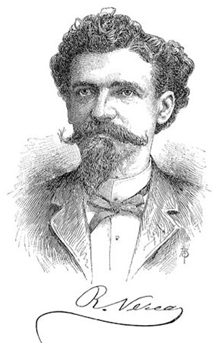 Sketch drawing of Ramón Verea