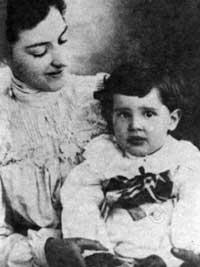 Atanasoff with his mother, 1906