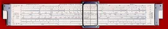 A Dietzgen slide rule