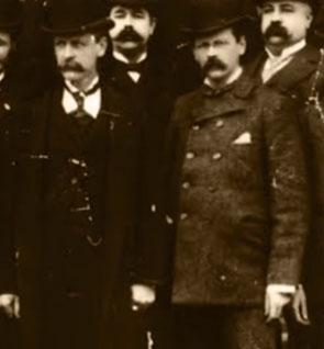 Willard Legrand Bundy (left) and Harlow Elsiha Bundy (right) before the scandalous split