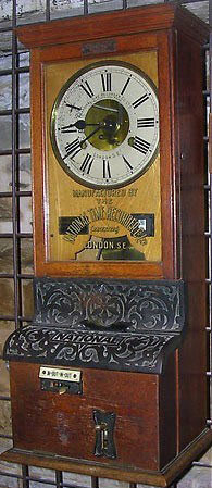 Bundy Time Clock from 1889