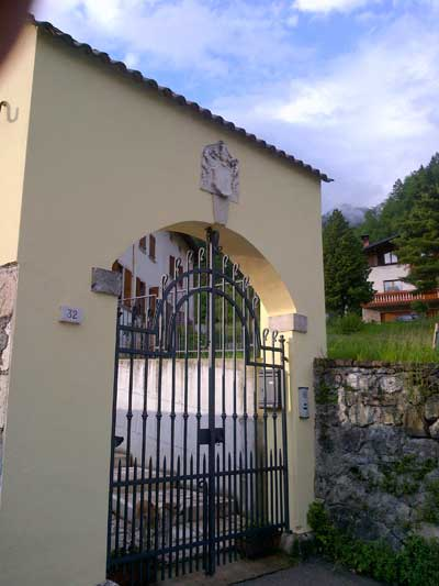Coat of Arms and the second house of Burattini in Agordo