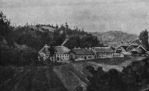 Buskerud hovedgård (the birthplace of Cathrinus Collett) around 1860