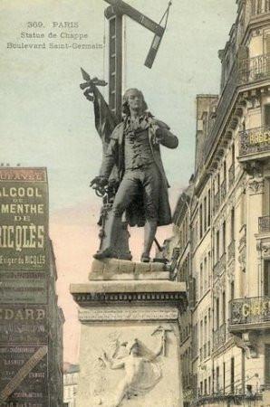 The monument of Claude Chappe in Paris