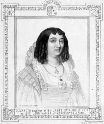 Elizabeth Stirling, the first wife of John Napier