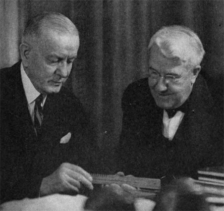 Frederick Fuller and Thomas J. Watson, the chairman of IBM