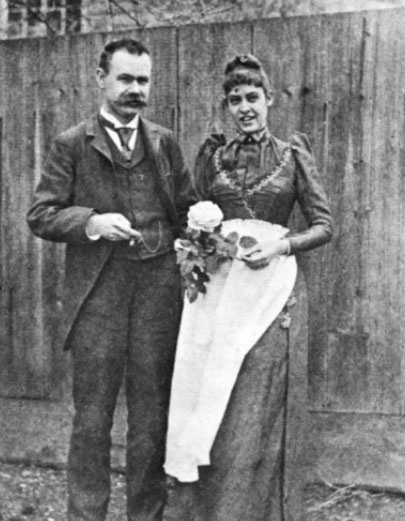 Herman took eagerly to domesticity, following his marriage to Lucia on 15 Dec. 1890. Shortly after, the couple posed in front of their first home on Dumbarton Str. in Georgetown, Washington, DC