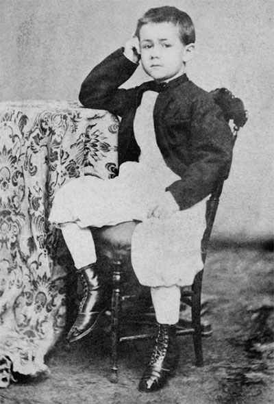 Herman Hollerith as a child in late 1860s