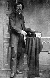 Newman Russel Marshman and his Orguinette in 1880