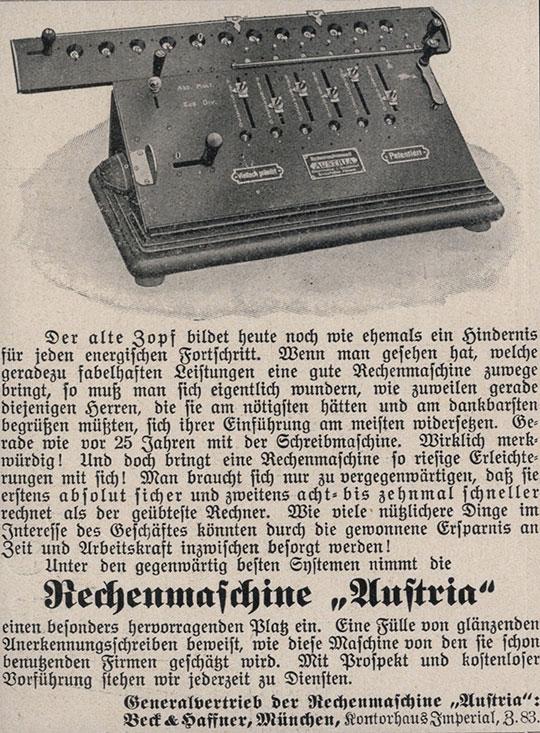Austria calculating machine of Samuel Herzstark
