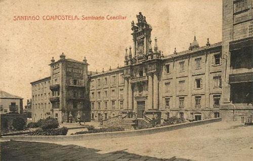 Pictured is the Seminario Conciliar in Santiago de Compostela, where Ramón began his path to priesthood.