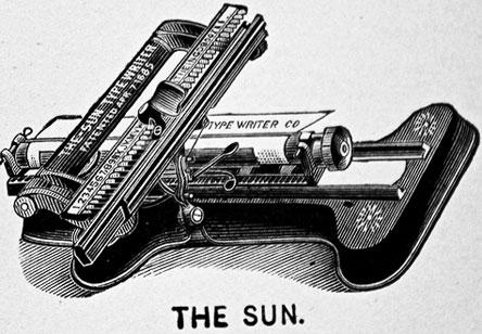 The Sun Index typewriter