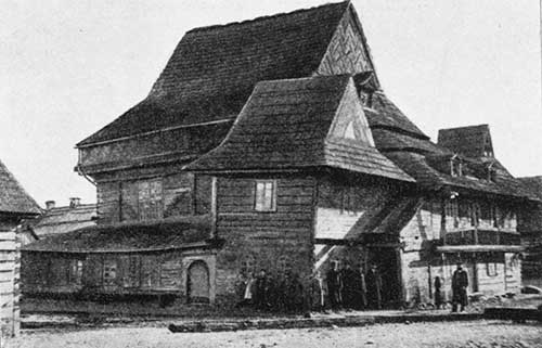 The unique wooden synagogue in Zabludow, built in 1637