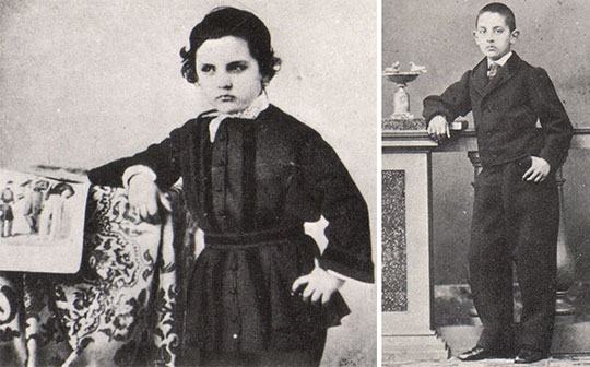 Leonardo Torres as 7 years old and 12 years old boy