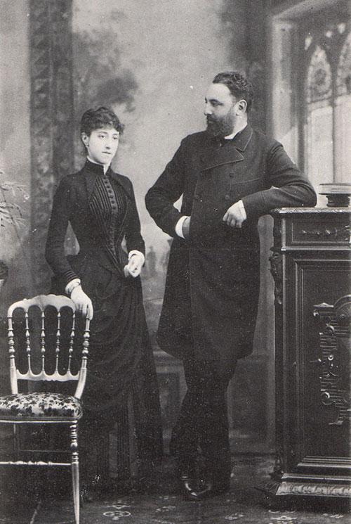 Leonardo Torres and his wife Luz Polanco y Navarro