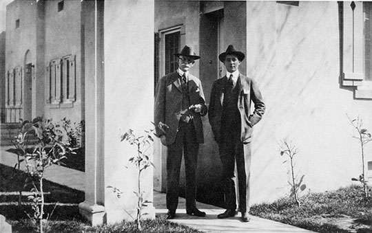 William Beardsley standing with his son Robert