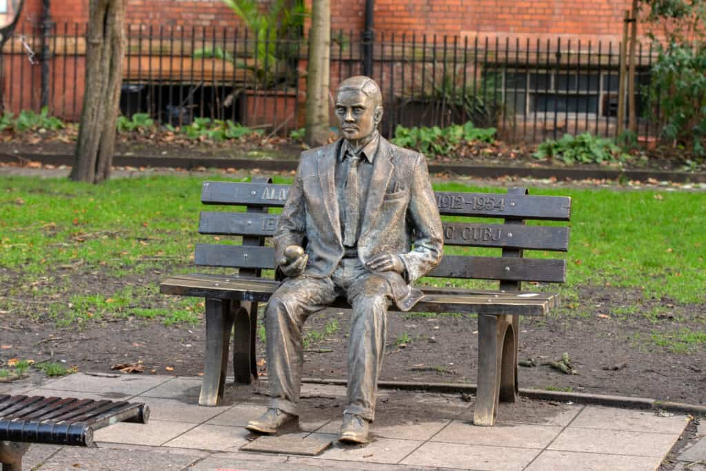 Alan Turing Memorial Monument at Manchester, England