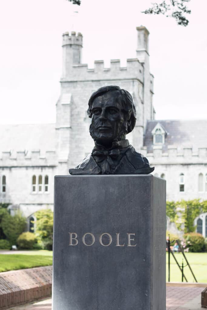 A bust of George Boole in Cork Ireland